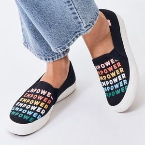 Keds Empower Double Decker Slip On Shoes Sneakers Black 9